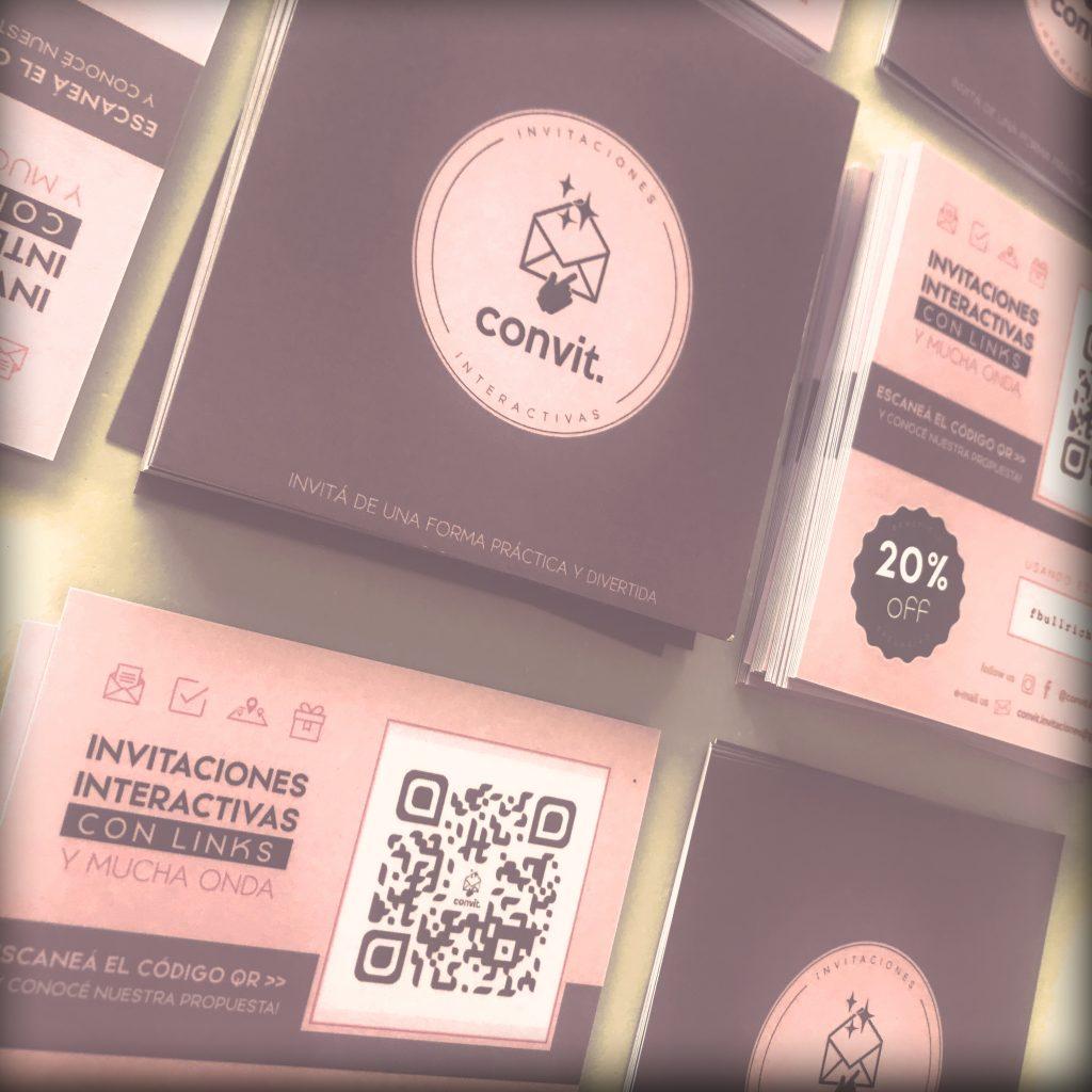 diseño tarjetas con QR